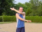 volleyball PNF stretching internal/external rotation