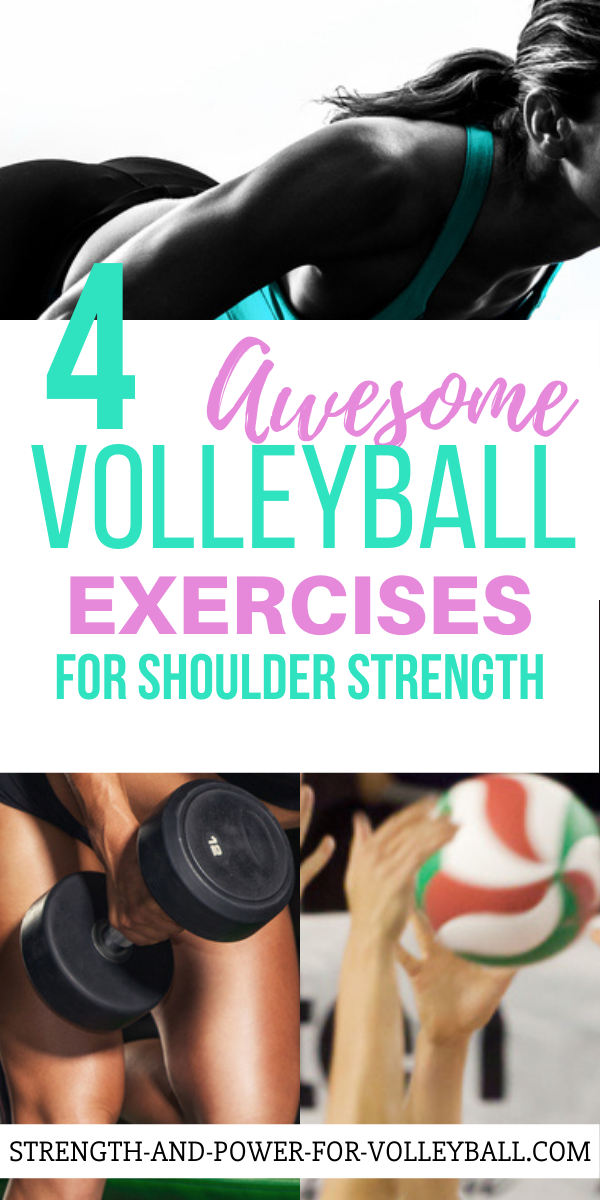 Volleyball exercises for strengthening the shoulder