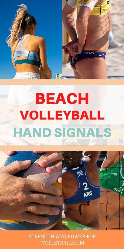 Beach Volleyball Hand Signals