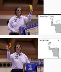 Volleyball referee signal