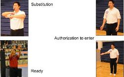 Second referee volleyball techniques substitution and ready signals