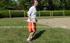 volleyball exercises - ankle hops