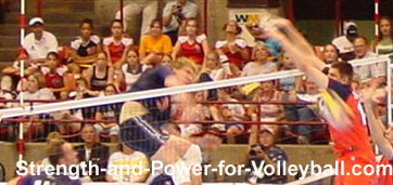 volleyball blocking angle