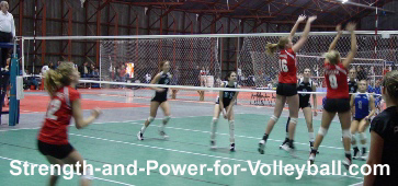 Blocking a Volleyball
