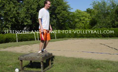 volleyball exercises - squat depth jumps