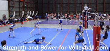 Volleyball techniques for making defensive plays.