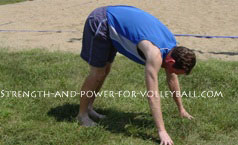Dynamic exercises for volleyball hand walks