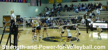 Volleyball strength explosive spikes