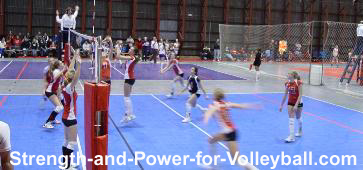 Volleyball techniques for approaching to spike