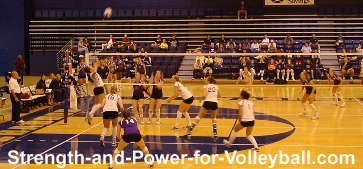 Volleyball techniques for serving aggressive