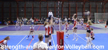 strength and power for volleyball