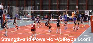 Spiking a volleyball with power
