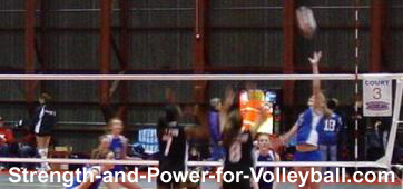 Tipping a Volleyball