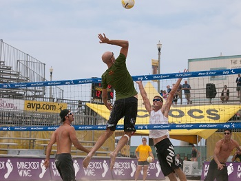 Volleyball Hitting on the Beach