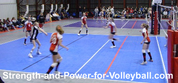 Passing deep serves in volleyball