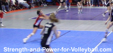 Digging Hard Driven Volleyballs