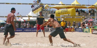 Beach volleyball passing