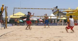 Volleyball passing beach techniques