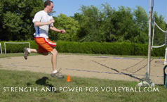 volleyball exercises - power skip with kickback