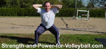 Volleyball player functional training