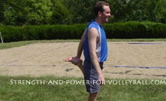 Dynamic exercises for volleyball quad stretch