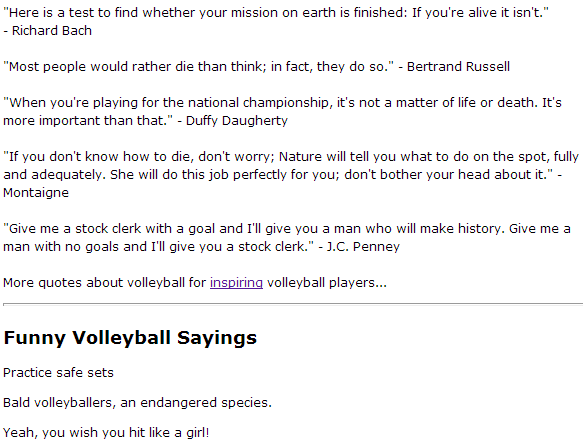 Funny Inspirational Volleyball Quotes