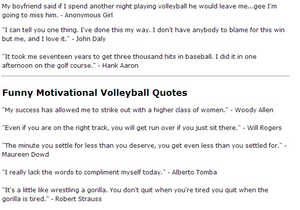 Volleyball Quote By Famous Athletes