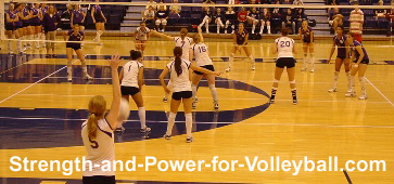 Serving a volleyball techniques and strategies