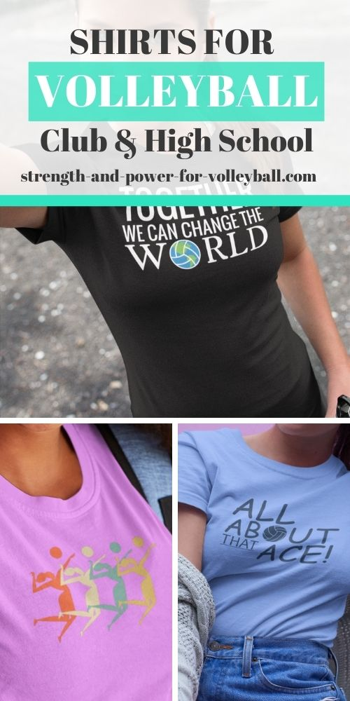 Volleyball shirts for club and high school
