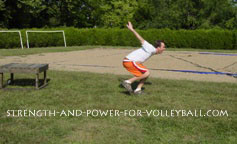 volleyball exercises - single leg squat jumps