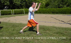 volleyball exercises - split squat jumps