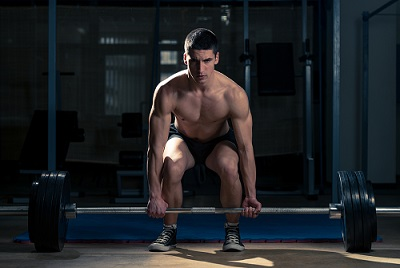 Volleyball deadlift exercise