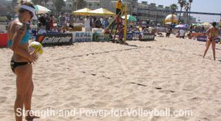 Beach Volleyball Serving