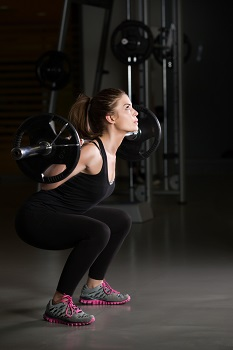 Volleyball workout squats
