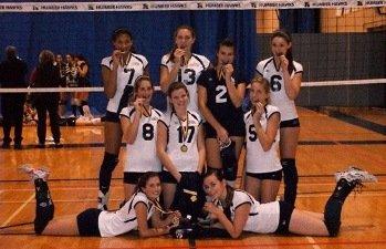 Durham Region Volleyball Club DRVC 16u team