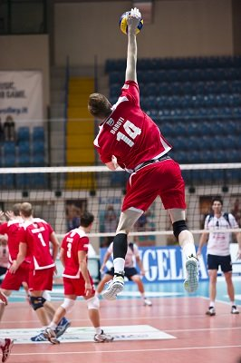 jump serving volleyball