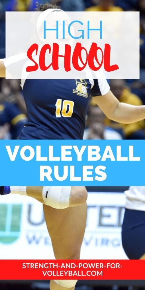 high school volleyball rules