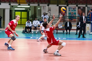 Playing Volleyball Defense