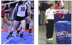 Second referee volleyball techniques center line fault