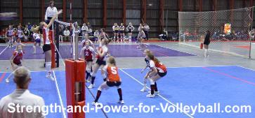 Volleyball skills blocking