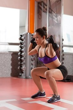 Front Squats for Volleyball
