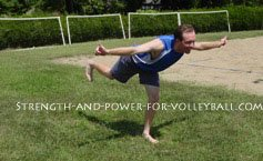 Dynamic exercises for volleyball hamstring stretch
