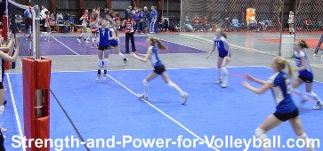 Volleyball strategies for approaching to hit