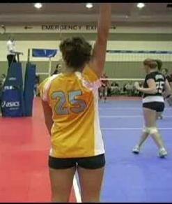 Volleyball line judge signaling out