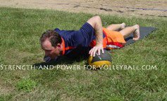 Volleyball Push Ups to Strengthen Shoulders