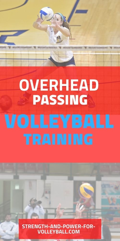 Volleyball passing tips for the overhead pass