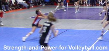 Digging Hard Driven Volleyballs