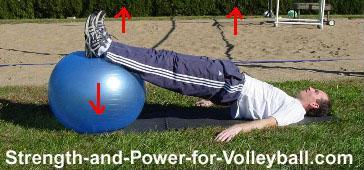 Volleyball strength training functional hamstrings