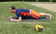 Training for volleyball plank position