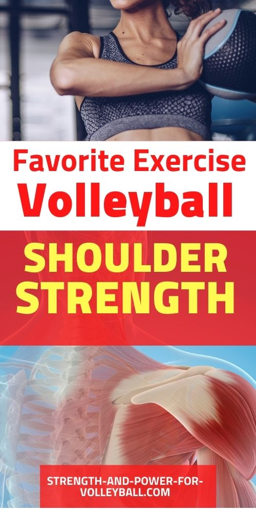 Volleyball exercises for strong shoulders